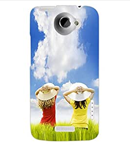 ColourCraft Lovely Friends Design Back Case Cover for HTC ONE X