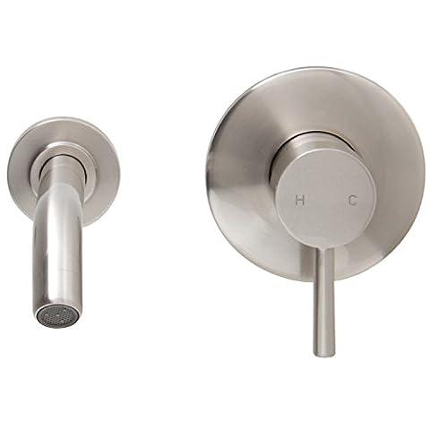 VIGO Olus Wall Mount Bathroom Faucet, Brushed Nickel