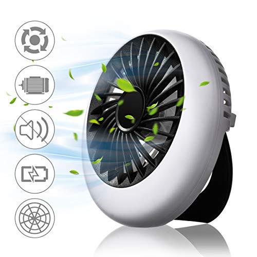 NASUM Mini Ventilatore Portatile, Mini Fan Ventilatore USB da Tavolo, 3 velocità Potente e Silenzioso per Scrivania, Auto, Casa Ufficio, Viaggiare Nero