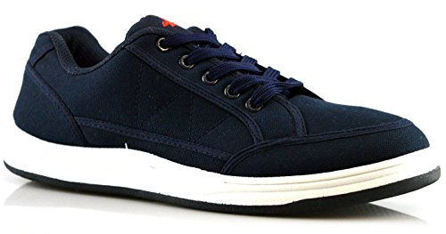 Mens Padded Collar TPR Sole Boxed Casual Canvas Trainers Shoe Size 6 7 8 9 10 11 12 -UK 9-UK 9