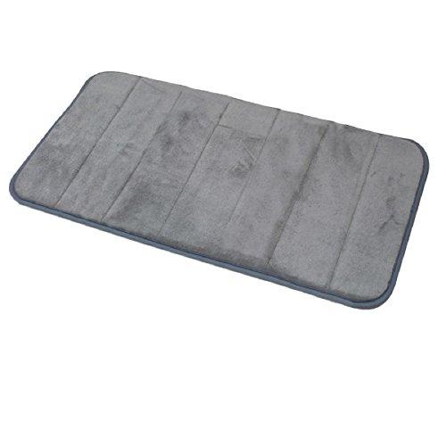 Carpemodo Schaumstoff Super Absorbierende Schnell Trocknende Badematte / Memory Foam / Größe: 40x70 cm / Farbe: Grau / groß geriffelt
