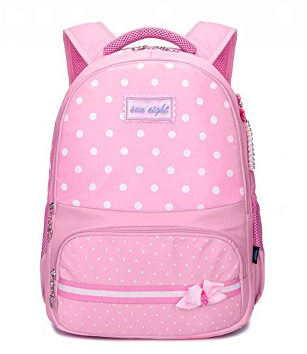 Reelay mee 18L Nylon and Fabric Light Weight Pink Backpack