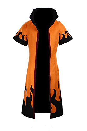 CHIUS Cosplay Costume Uzumaki Naruto Rokudaime 6th Hokage Cloak/Robe Ver 4