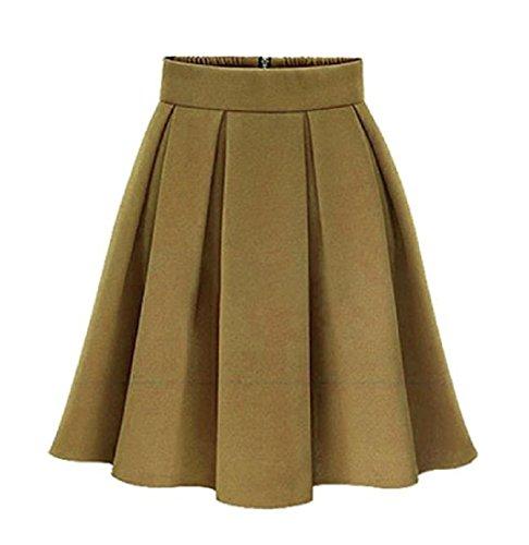 CuteRose Women Wild Oversize Casual Business Basic Classics Mini Pencil Skirt 2XL Yellow