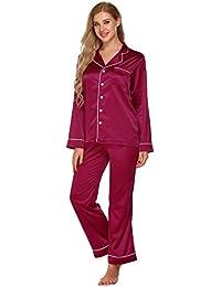 suchergebnis auf f r damen satin pyjama bekleidung. Black Bedroom Furniture Sets. Home Design Ideas
