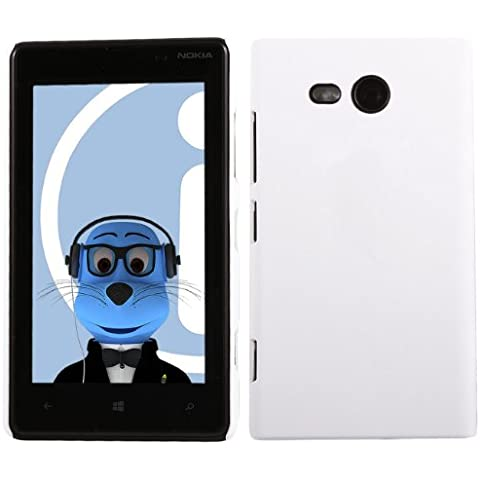 iTALKonline Nokia Lumia 820 BIANCO Difficile Saluto dura della cassa della pelle Soft Grip Slim