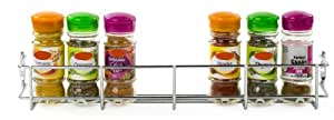 Andrew James 1 Tier Spice / Herb Rack Wall Mountable or Kitchen Cupboard Storage