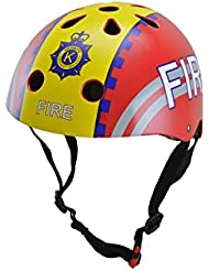 Kiddimoto Fire Small - Casco de ciclismo infantil para bicicleta BMX, color multicolor ( 48 - 52 cm )