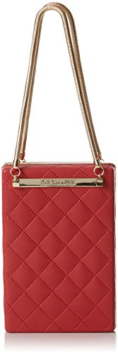 Love Moschino Damen Borsa Quilted Nappa Pu Rosso Baguette, rot (Red), 5 x 15 x 10 cm