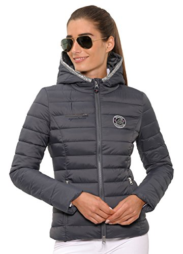 SPOOKS Damen Jacke, leichte Damenjacke mit Kapuze, Herbstjacke - Emilie Jacket Dark Grey XL