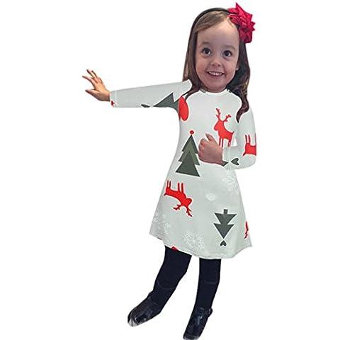Culater® Neonate di natale a maniche lunghe vestito dalla stampa swing - Lettera Grigio Etichetta