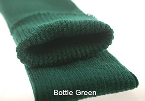 Neotrims Knit Rib Fabric & Cuffs Bande de tricot sans coutures Mélange acrylique et élasthanne Coloris au choix Vente au mètre - Vert - Bottle Green, Tubular (7cm)