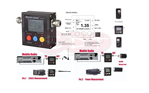 sw-102-Digital-VHFUHF-Power-600-SWRLeistungsmesser-SWR-Meter-und-Frequency-Counter