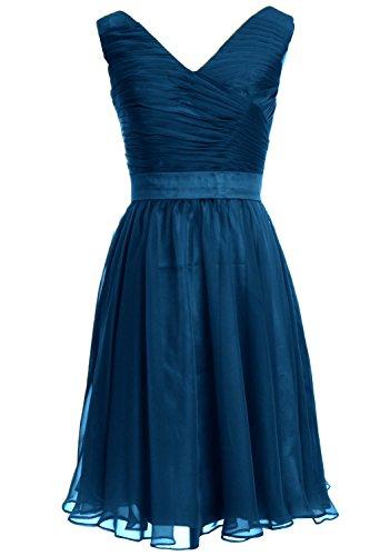 MACloth - Robe - Trapèze - Sans Manche - Femme Bleu - Bleu-vert