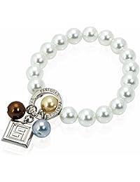 Pulsera Grace colección Pertegaz, perla natural y colgante plateado. 20x 0,9x0,9.