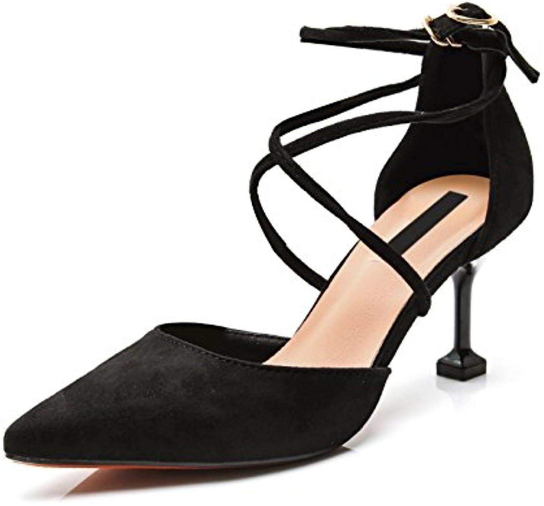 07867801b AGECC High Heeled Shoes Women S Lap Lap Lap And Thin Shoes Pointed Sandals.  B07FTN9HQM Parent