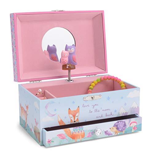 Jewelkeeper - Boîte à Bijoux Musicale pour Enfant, Hiboux...