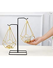 PIKIFY Steel Hanging Geometric Candle Holder - 2pc