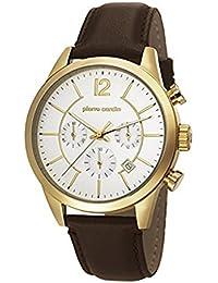 Pierre Cardin PC106591F13 - Reloj para hombres, correa de cuero color marrón