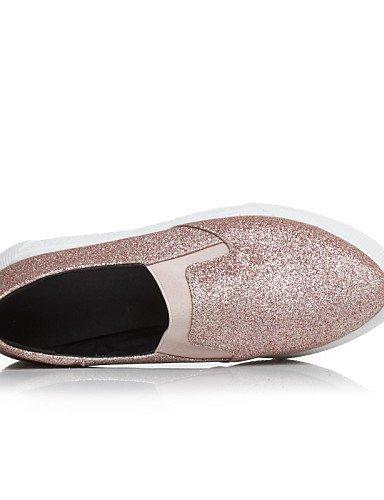 ZQ Scarpe Donna - Mocassini - Casual - Ballerina - Piatto - Sintetico - Nero / Rosa / Argento , pink-us9 / eu40 / uk7 / cn41 , pink-us9 / eu40 / uk7 / cn41 silver-us7.5 / eu38 / uk5.5 / cn38