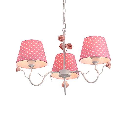 GroBartig Rosa Tuch Lampenschirm Kronleuchter Mädchenzimmer