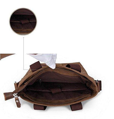 Generic, Borsa a spalla uomo Caffè 28CM × 14CM × 30CM (11 x 5.5 x 11.8 inches) nero