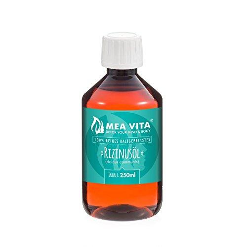 MeaVita Rizinusöl - 100% reines kaltgepresstes Öl, 1er Pack (1 x 250 ml)