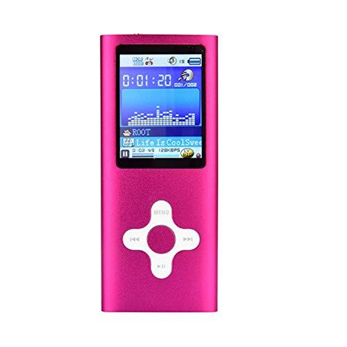 LinZec Verlustfreier MP3-Musik-Video-Player Für Tragbare Pflaumenkreuztasten, E-Book Für Sport MP4 / MP3 - Microsd-Kartensteckplatz Und UKW-Radio - Erweiterbar Auf Bis Zu 128 GB,Pink - Sansa Bluetooth Mit Mp3-player
