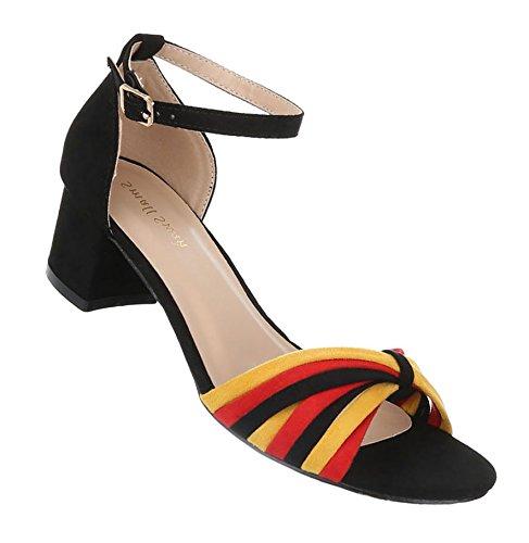 Damen Sandalen Schuhe Strandschuhe Sommerschuhe Pumps Sandaletten Gelb