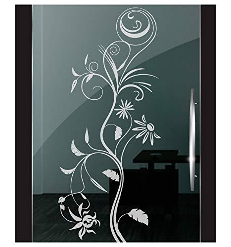 DD Dotzler Design 2111-12 Fenster Milchglas Motiv Blume modern floral Blumen Milchglasfolie Glas Aufkleber Sichtschutz -