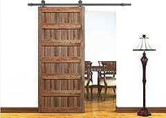 BD-TOP # NUR Hardware, keine Türverkleidung.     Scheunentor Übersicht: Barn Door werden normalerweise für ausländische Farm verwendet wird, ist es eine Kombination von Schiene und Riemenscheibe sichtbaren Holzschiebetüren Das traditionelle Design...