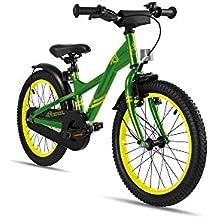 s. Cool Niños XXlite Steel 18–Bicicleta infantil, color Verde y amarillo, tamaño 18 pulgadas