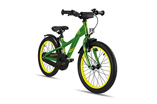 S\'COOL Kinder XXlite Steel 18 Kinderfahrrad, Green/Yellow, Zoll