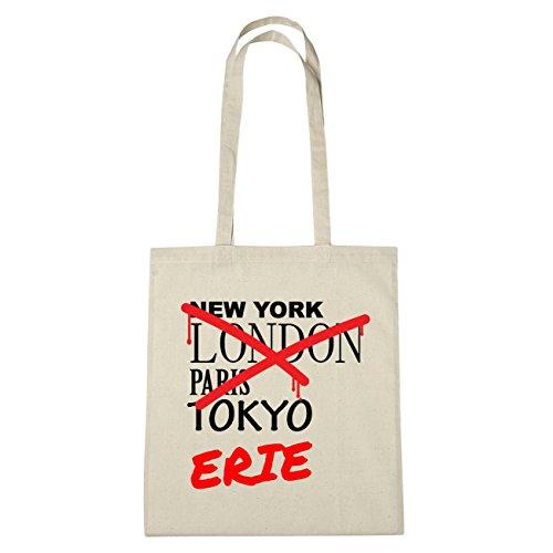 JOllify di cotone felpato b4315Erie schwarz: New York, London, Paris, Tokyo natur: Graffiti Streetart New York