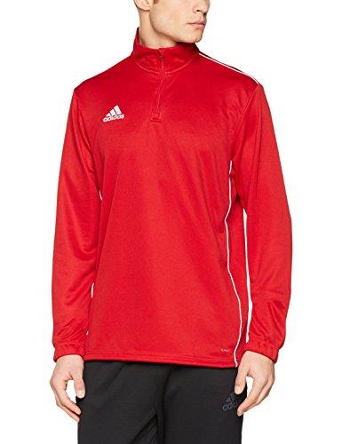 Gestickte Kragen Body (adidas Herren CORE18 TR TOP Sweatshirt, Power red/White, S)