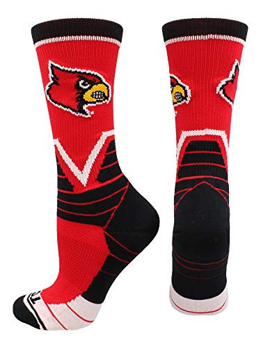 TCK Sports University of Louisville Cardinals Victory Crew Socken, Herren, Rot/Schwarz/Weiß, X-Large Louisville University