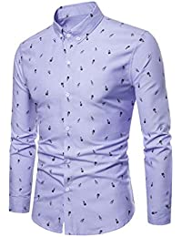 f68db9675a848 Camisas Hombre Manga Larga Estampadas AIMEE7 Camisas Hombre Algodon