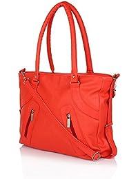 NIYANK Women's Handbag Stylish Handbag | Ladies Orange Bags | Orange Bag | Bag For Ladies | PU Leather Bag | Orange...