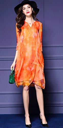 Lacus-UK - Robe - Femme orange Orange Orange