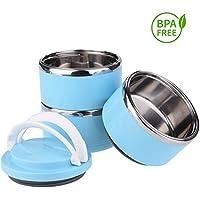 Portable Comedero y Bebedero para Viaje Acero Inoxidable Bowl Kit para Perros y Gatos Cuenco para