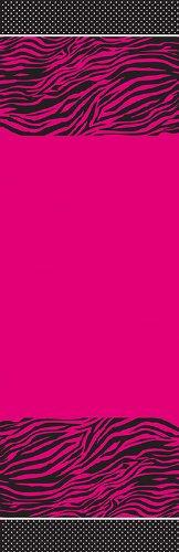 Unbekannt Creative Converting Pink Zebra Boutique Kunststoff Bankett Tisch Cover