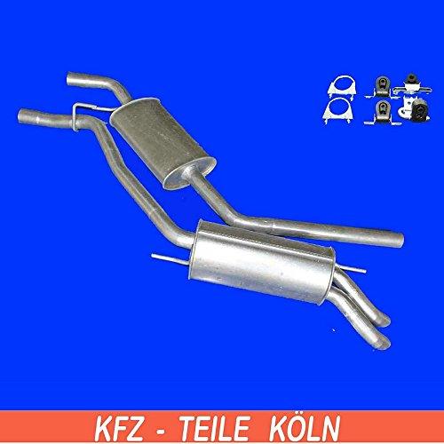Mittelschalldämpfer Endschalldämpfer Auspuffanlage + Montagesatz (KSZPZ2LI7)