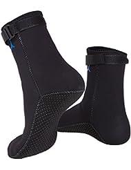 XCSOURCE Chaussettes Sport 3mm en néoprène anti-dérapant pour Plongée Nautiques Sous-marine Natation Plongée Surf Snorkeling (Taille: M) OS623