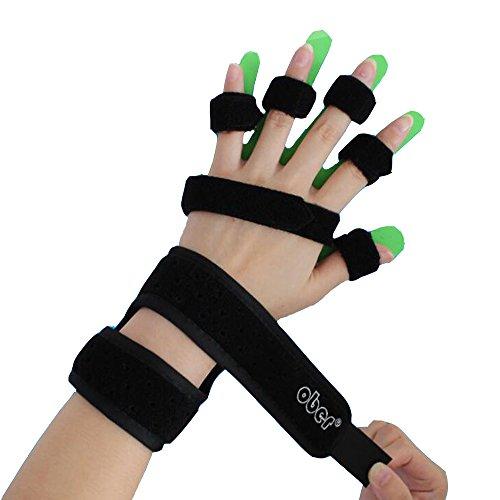 Ober Erwachsene Kinder Hand Handgelenkorthese Separate Finger Gerät Flex SPASM Verlängerung Fingerschiene Board Fixer apoplex plegie wh-41 (Flex Herren Link)