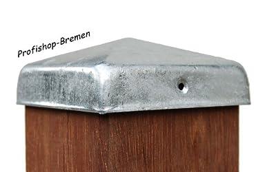 Pfostenkappen feuerverzinkt Pyramide für Pfosten 7x7 cm, inkl. VA-Schrauben von Profishop-Bremen bei Du und dein Garten