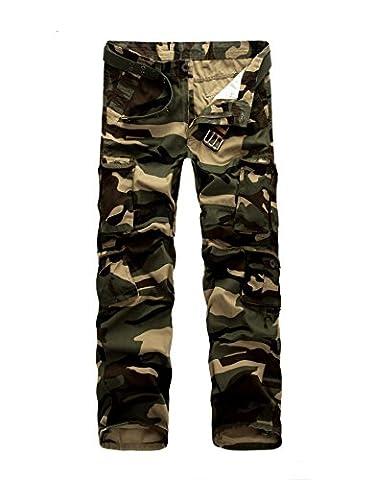 AYG Homme Pantalon Cargo Camouflage Camo Militaire Pantalon(camo,34)
