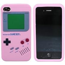 avci Base 4260344988013Nitendo Game Boy Carcasa para Apple iPhone 4S/4, color rosa