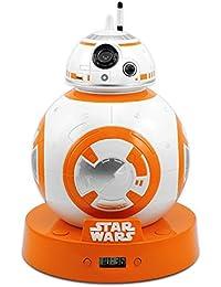 a3381d40030a Reloj Despertador con efecto de proyección y sonido original Star Wars - BB- 8