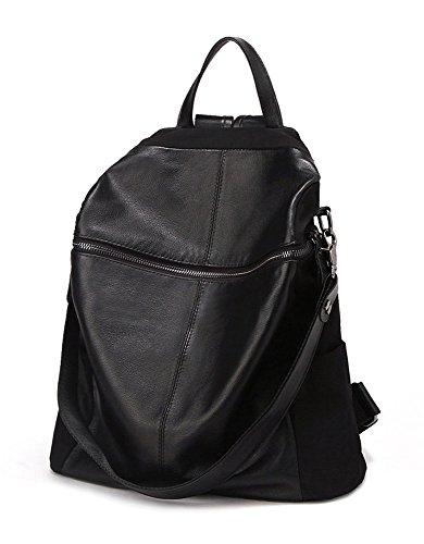 1 x zaino per le donne – nero / sacchetto multifunzionale / borsa / haversack / borsa a tracolla impermeabile per studenti / office lady / viaggiare