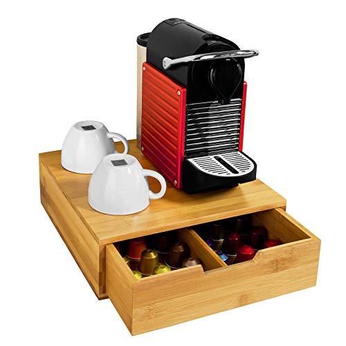 SoBuy® FRG70-N Kaffeekapsel Box Kapselhalter für Kapseln,Teebeutel Kapselständer Monitorständer Monitorerhöhung Bambus BHT ca.: 30x9,5x31cm